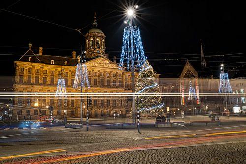 Kerstsfeer op 'de Dam' in Amsterdam