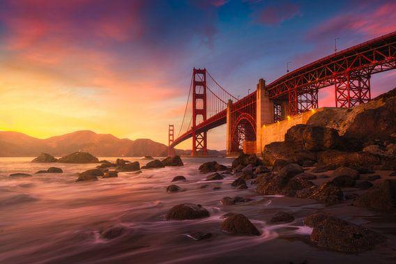 Golden Gate brug San Francisco van Albert Dros