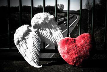 Een engel, een hart afscheid ... van