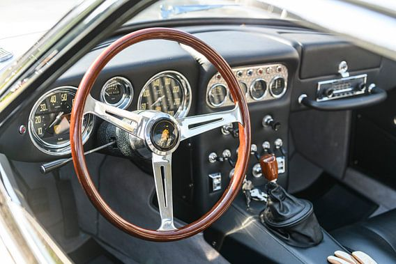 Lamborghini 350 GT klassiek Italiaans sportwagen interieur
