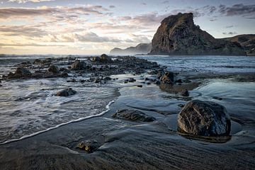 Zonsondergang Nieuw Zeeland van Roel Beurskens