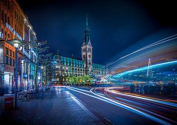 Deutschland, Hamburg, Architektur, Rathaus, Nacht von Ingo Boelter