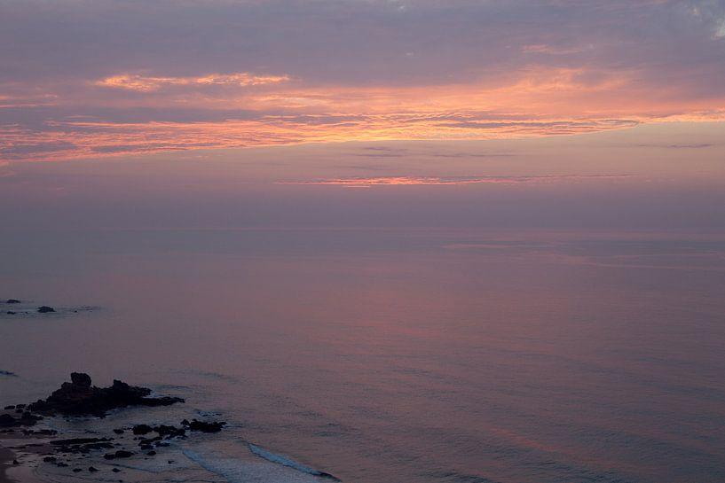 Zonsondergang bij zee van Jacqueline Lemmens