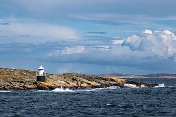 Leuchtturm auf der Insel Orust in Schweden von Rico Ködder