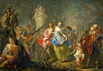 Die Freuden des Frühlings - Johann Georg Platzer, 1730 von Atelier Liesjes