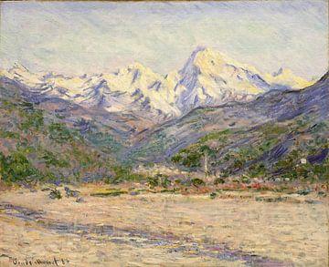 La vallée de la Nervia, Claude Monet sur