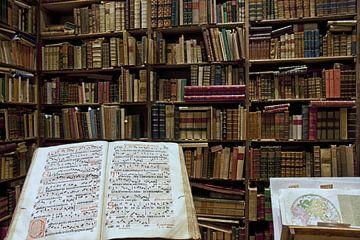 Antiquarische boekwinkel in Rome