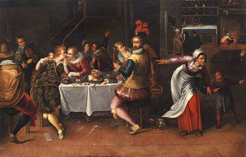 Festmahl im Interieur, Frans Francken