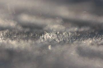 zilver grijs ijs van