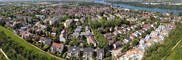 District Weisenau van de stad Mainz, luchtpanorama van shop.menard.design - (Luftbilder Onlineshop)