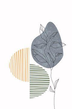 Wildblume Herbst III von Munich Art Prints