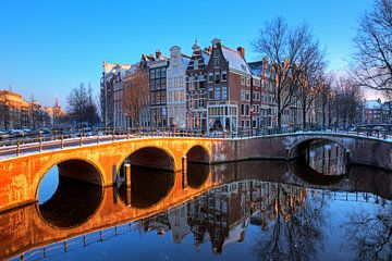 Keizersgracht brug reflectie  von Dennis van de Water