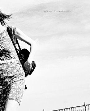 Stresskip (2016, zwart-wit) van Alex Faasse