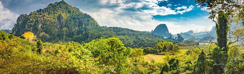 Platteland Noord-Laos van Rietje Bulthuis