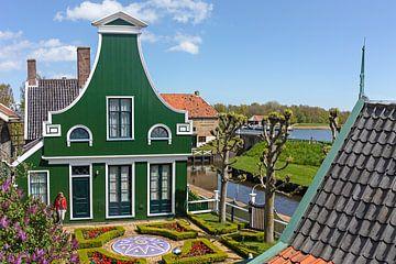 Luchtfoto Zuiderzeemuseum Zaans huisje van Liset Verberne