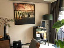 Klantfoto: Heathcliff van Marja van den Hurk, op canvas