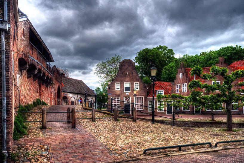 Koppelpoort historique Amersfoort sur Watze D. de Haan