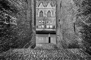 Dordrecht zicht op  Grote Kerk