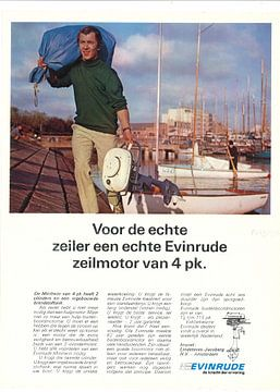 Vintage reclame EVINRUDE van Jaap Ros