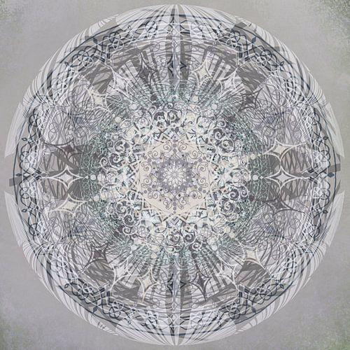 Kaleidoscoop in grijstinten