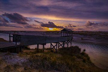 Steiger bij zonsondergang van Peter Heins