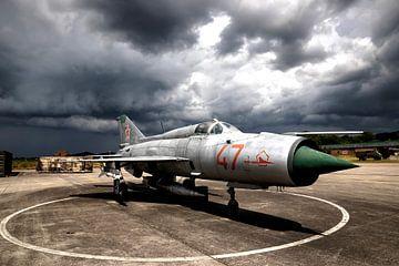 Straaljager MiG 21 van Mario Verkerk