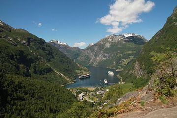 Geirangerfjord  Noorwegen van