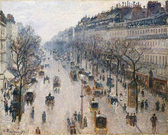 Boulevard Montmartre op een winterochtend, Camille Pissarro
