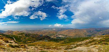 Panorama van de Sierra Nevada, Spanje van Patrick van Oostrom