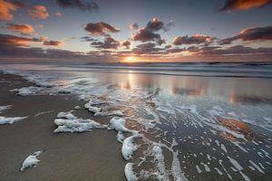Zonsondergang bij het strand van Callantsoog van