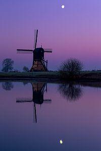 Mühle bei Mondschein