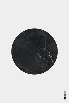 Minimal Marble Dark - Scandinavische Print van MDRN HOME