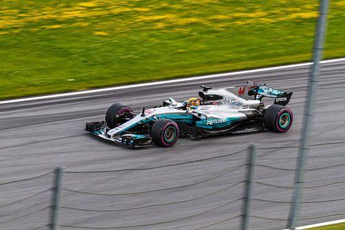 Lewis Hamilton in actie tijdens de Grand-Prix van Oostenrijk 2017