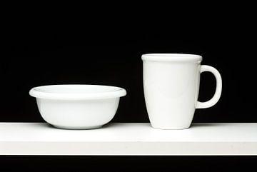 Wit Zwart met rondingen von Geertjan Plooijer