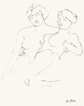 Nackte Frauen, Auguste Rodin von Atelier Liesjes