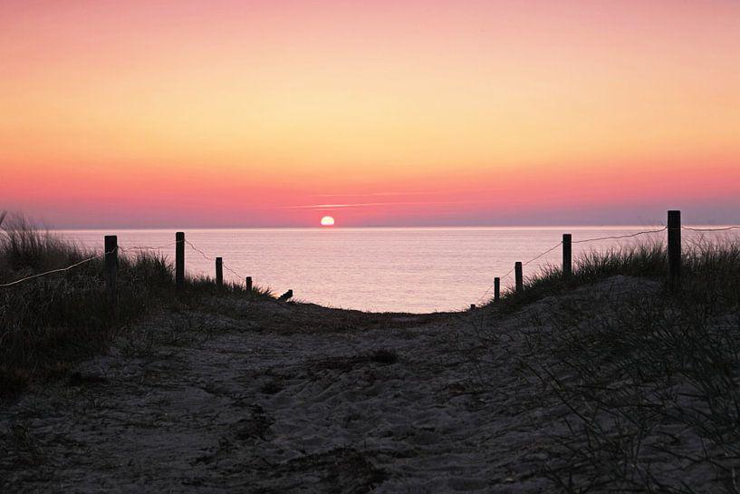 Dünenübergang in den Sonnenuntergang von Frank Herrmann