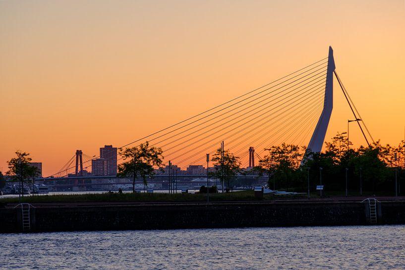Erasmusbrug tijdens de zonsopkomst van Mark De Rooij