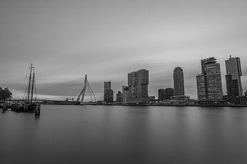 Skyline van Rotterdam in zwart en wit van Gea Gaetani d'Aragona