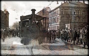 Steamtram nr.11 #2 van Leopold Brix