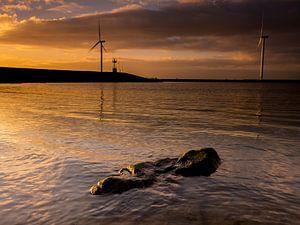 Windmolens aan het kanaal van