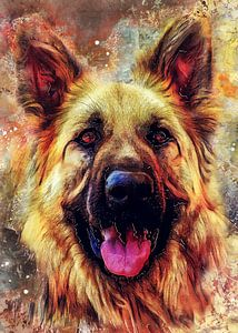 Hund 12 Tiere Kunst #Hund #Hunde