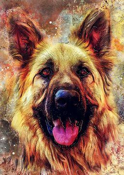 Hund 12 Tiere Kunst #Hund #Hunde von JBJart Justyna Jaszke