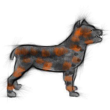 Hond wilde hond van Raina Versluis