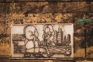 Street Art, Penang Maleisië van Danny Kok