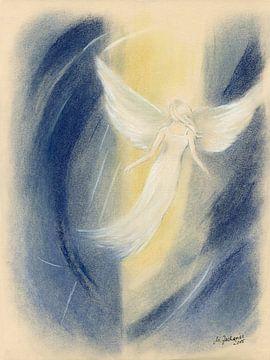 Lichtwezens - spirituele schilderij van Marita Zacharias