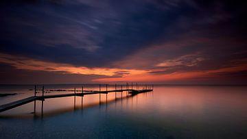 Sonnenuntergang an der dänischen Küste von Jenco van Zalk