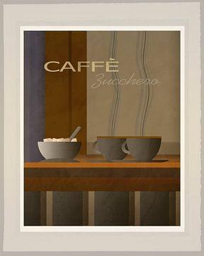 Caffe Zucchero  - Art Deco 2 van Joost Hogervorst