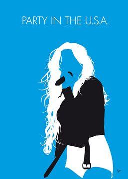 No299 MY Miley Cyrus Minimal Music poster sur Chungkong Art