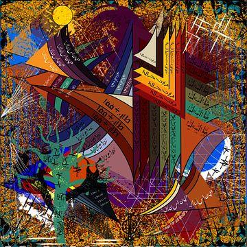 Zeitgenössische digitale Kunst mit abstrakten Formen von EL QOCH