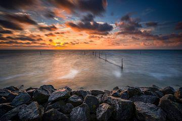 Prachtige zonsondergang boven Markermeer von Jenco van Zalk